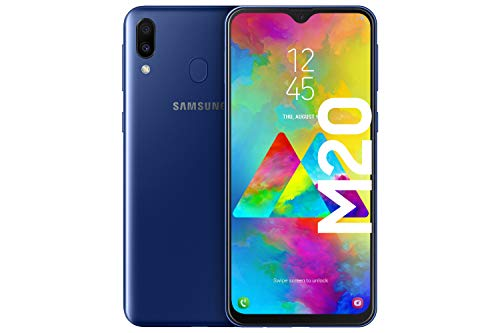 Samsung Galaxy M20 Smartphone (16.0cm (6.3 Zoll) 64GB interner Speicher, 4GB RAM, Ocean Blau) - Deutsche Version [Exklusiv bei Amazon]