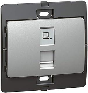 Data socket Mallia - RJ 45 - category 6 - UTP - silver
