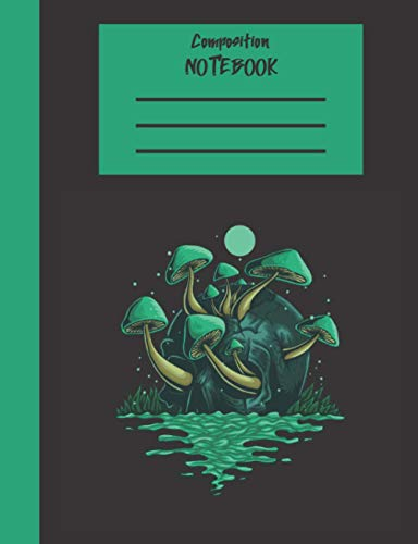Composition Notebook: Wide Ruled 7.5 x 9.75 100 Pages Amazing Mushroom Design Journal