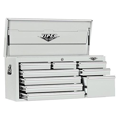 Viper Tool Storage V4109WHC 41-Inch 9-Drawer 18G Steel Tool Chest, White