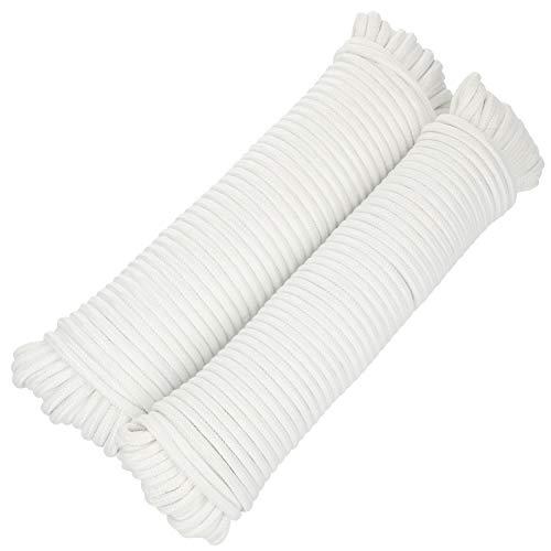 com-four® 2X 25m Cuerda Multiusos, cordón de sujeción versátil, tendedero y Mucho...