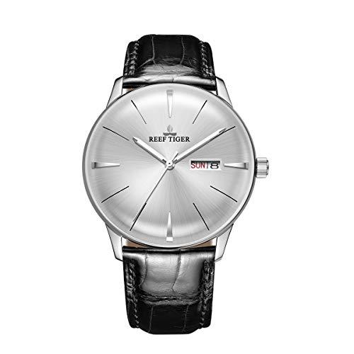 REEF TIGER Herren Uhr analog Automatik mit Leder Armband RGA8238-YWB