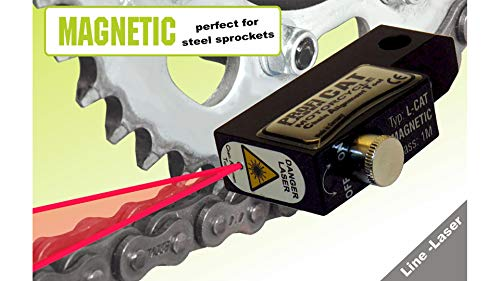 PROFI PRODUCT L-CAT - magnetisch für Stahl Kettenräder - Hilfe bei Ausrichtung der Kette - Kettenfluchttester