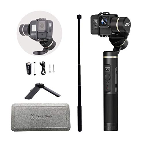 FEIYUTECH G6 Upgraded Version Gimbal for Gopro Hero 8/7/6/5/4/3 with WiFi and App Control, Including Tripod and Extension Rod