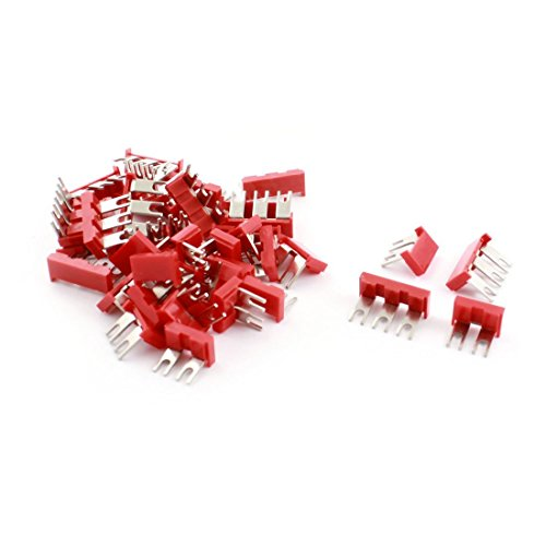 Baomain 40Pcs 2-Position 3-Position Red PVC Pre Insulated Fork Terminal Jumper
