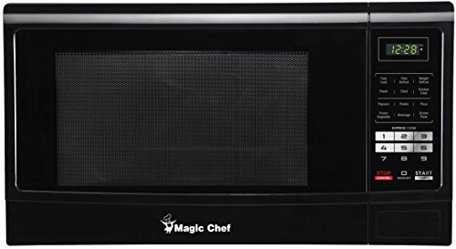 Magic Chef MCM1611B 1100W Oven, 1.6 cu. ft, Black Microwave