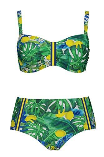 Ulla Popken Damen große Größen Bikini Multicolor 60C 747857 90-60C