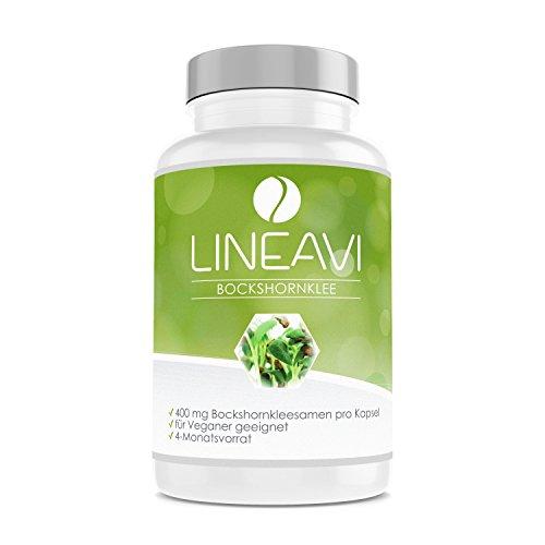 LINEAVI Fenugrec, 400 mg de graines de fenugrec, favorise la production de lait pendant la période de lactation, fabriqué en Allemagne, 120 gélules véganes (pour 4 mois)