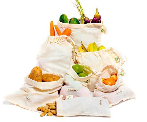 Mehrwegbeutel Obst, Baumwollnetze, Gemüsebeutel, brotbeutel leinen bio, Mehrwegbeutel Obst Gemüse,...