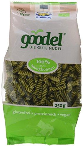 Govinda goodel grüne Mungbohnen Nudeln, 3er Pack (3 x 250 g)