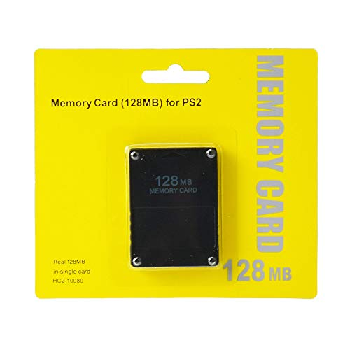 PS2 MEMORY CARD 128MB NERA PLAYSTATION 2 PSTWO PLAYSTATION 2