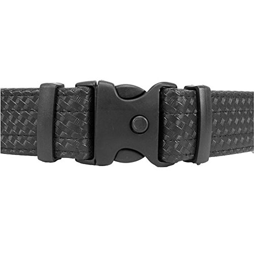 Uncle Mike s Law Enforcement Mirage Basketweave Ultra Duty Belt with Hook and Loop Lining (Medium, Black)