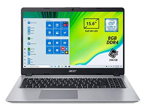 Acer Aspire 5 A515-52-51KS Notebook con Processore Intel Core i5-8265U, RAM da 8 GB DDR4, 256GB SSD, Display da 15.6  FHD LED LCD, Scheda Grafica Intel UHD 620, Windows 10 Home, Silver