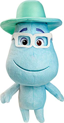Mattel Disney and Pixar Soul Joe Gardner Feature Plush Doll Collectible Approx 16-in / 40.6-cm Tall, Huggable Stuffed Character Toy with Movie-Authentic Look, Collectors Gift, Multi (GPW09)