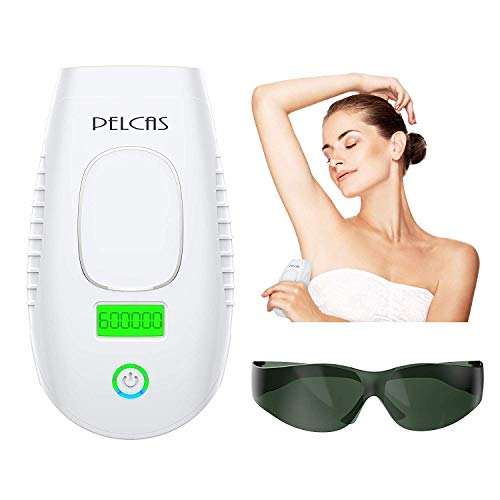 IPL Hair Removal System, PELCAS 600,000 Flashes Laser Hair Removal Permanent Hair Remover 2 in 1 Enhanced Version with Touch LCD and Skin Rejuvenation Cap for Home Use