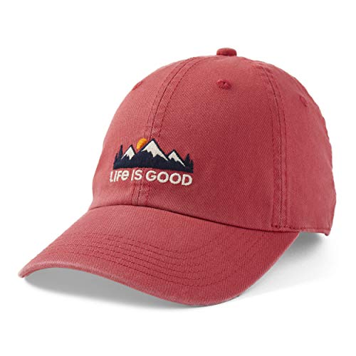 Life Is Good Chill Cap Baseball Hat, Faded Red, One Size