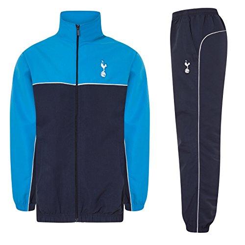 Tottenham Hotspur FC - Jungen Trainingsanzug - Jacke & Hose - Offizielles Merchandise - Geschenk für Fußballfans - Dunkelblau/Cyanblau - 12-13Jahre
