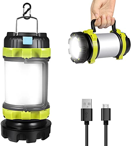 Rechargeable Led Torch, Multi-functional Camping Light, Camping Lantern...