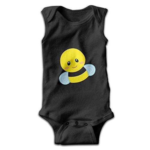 Mono de bebé divertido sin mangas con diseño de abeja, color negro