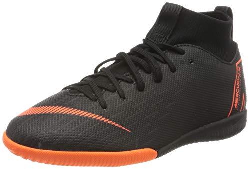 Nike Unisex-Kinder Jr. MercurialX Superfly VI Academy Fußballschuhe, Schwarz (Black/Total Orange-W 081), 35.5 EU