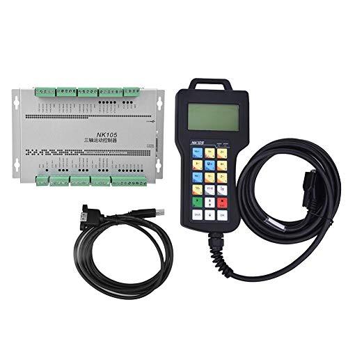 Handwiel CNC-controller, 3-assen CNC-besturingssysteem Bewegingscontrolekaart Motion Control Panel-kit voor houtbewerking Graveermachine Router Graveermachine-Accessoires