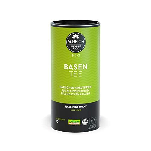 M. Reich BasenTee - 30 Beutel - Basischer Bio-Kräutertee mit 28 Zutaten - ideal für basische Ernährung oder als Begleiter bei Fastenkuren