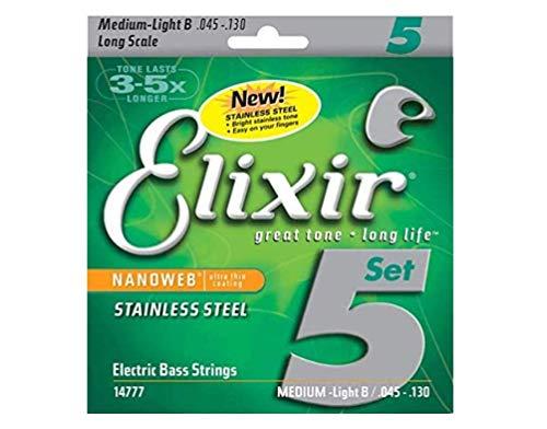 Cuerdas de bajo de 5 cuerdas Elixir® Strings de acero inoxidable con...