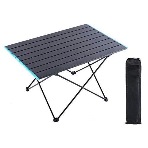 Mesa Plegable de Camping - Mesa Auxiliar de Aluminio Ligero - con Bolso para cargarla para picnics Dentro y Fuera, Playa, Senderismo, Viajes, Pesca