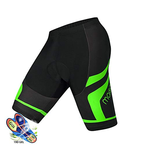 Pro Cycling Shorts Men 19D Anti Slip Padded Gel Bike MTB Shorts Mountain Bicycle Classic Shockproof Short Pants Ropa Ciclismo (Color : Shorts3, Size : L)