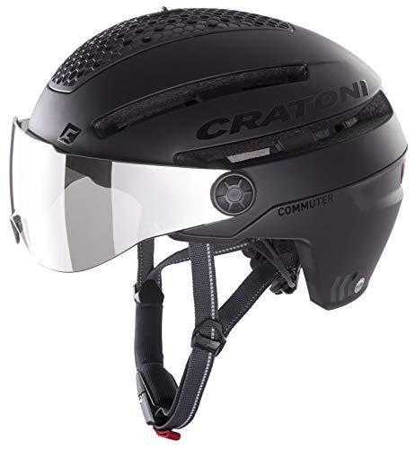 Cratoni Unisex– Erwachsene Commuter (Pedelec) Fahrradhelm, Schwarz, One Size