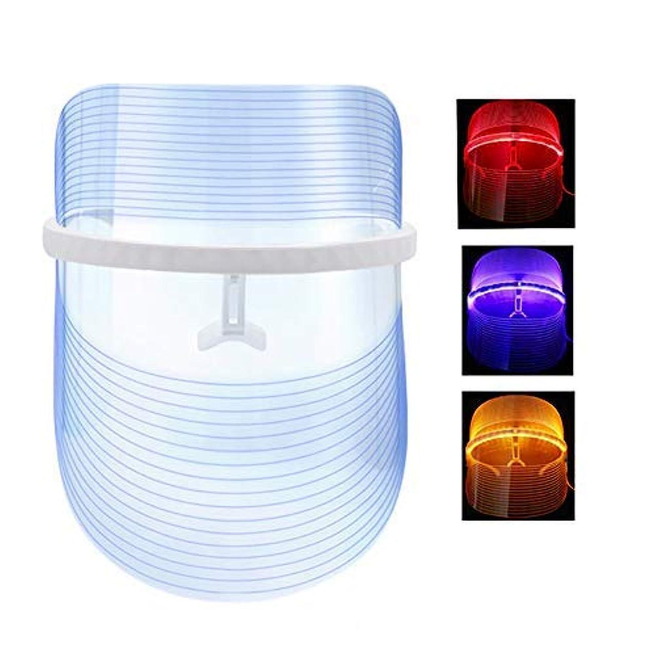 れる印刷する軸光療法フォトンマスクにきび治療フェイススキンケアの無制限セッション-個別に赤/青/オレンジのライト