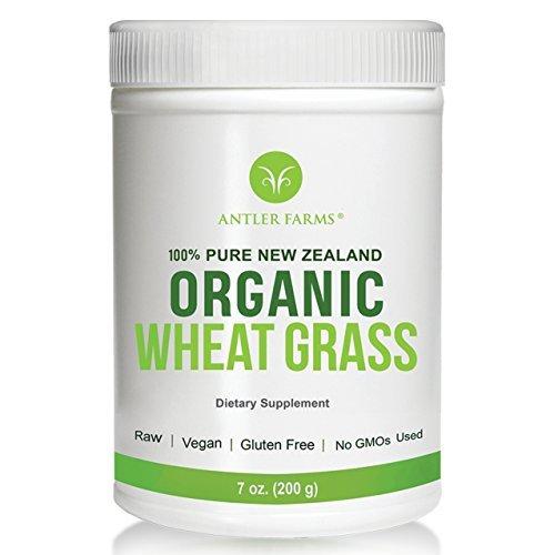 Antler Farms - 100% Pure New Zealand Organic Wheatgrass Powder, 50...