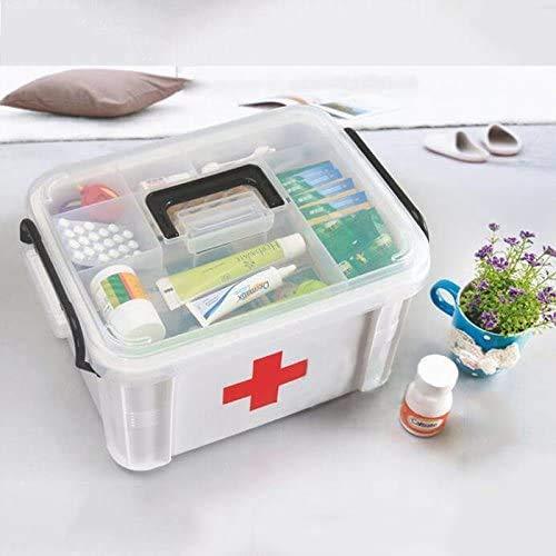 WYMF-Familie Medizin-Box, Kunststoff, mehrlagig, Erste-Hilfe-Set, Gesundheitsbox, Medizin-Aufbewahrungsbox, Haushalt