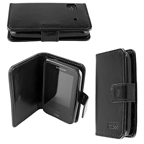 caseroxx Handy Hülle Tasche kompatibel mit Dexcom G6 Receiver Bookstyle-Hülle Wallet Hülle in schwarz