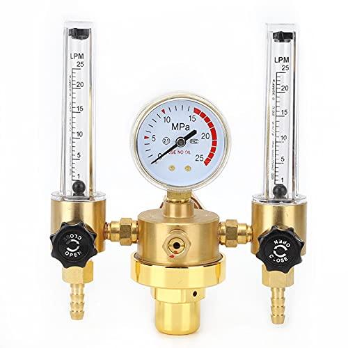 Regulador de Argón/CO2, Reductor Presión de Gas WX-562 G5/8 0-25L/min Dispositivo Medidor Flujo de Rosca Hembra para Corte de Soldadura(WX-562-5/8 Female Thread)