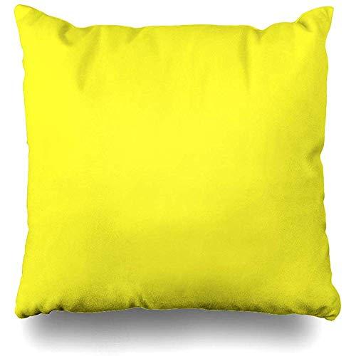 jonycm Funda de Almohada Lanzarote Lemon Acid Neon Yellow Color sólido Decoración Square Home Funda de Almohada Decorativa Throw Pillow Cover Funda de Almohada 45X45cm