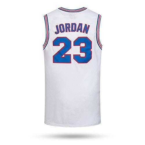 WFGT Basketball Uniform Herren Trikot Victor Lebron James # 23 Memorial Edition Trikot weißer Rücken Trikot ärmellos atmungsaktiv,XL