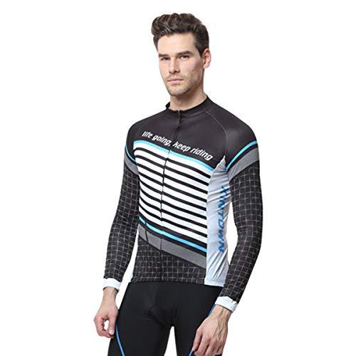 Sommet Cyclisme Costume Hommes Et Les Femmes À Manches Longues Printemps/Eté Vélo Équitation Pantalon Mountain Equipment,Bleu,XL