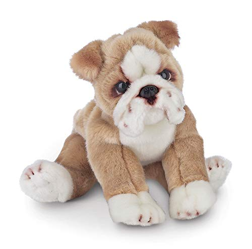 Bearington Tug Bulldog Plush Stuffed Animal Puppy Dog, 13 inch