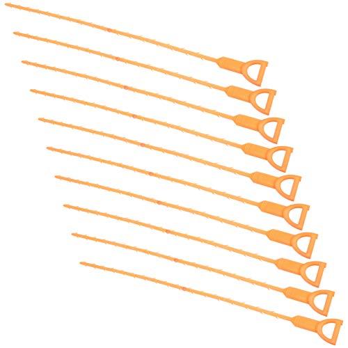 Uonlytech 10 Stück Abfluss Verstopfen Entferner Werkzeug Waschbecken Schlange Abfluss Schnecke Haar Cather Dusche Abfluss Reinigungswerkzeug für Waschbecken Rohr Abfluss Reinigung