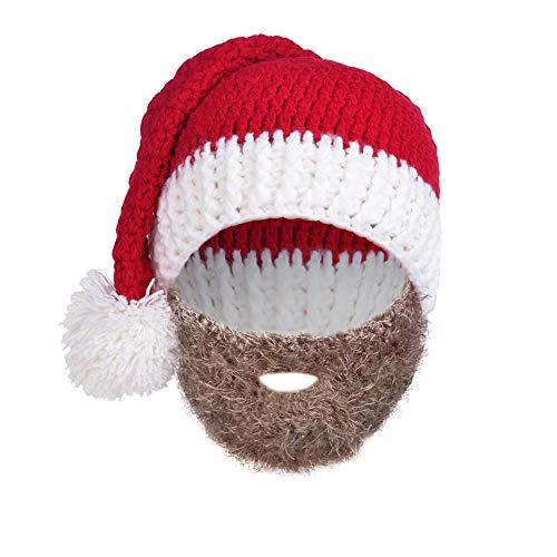 VBIGER Barba Gorro de Punto Gorro de Punto Sombrero Gorro de Invierno cálido Pulpo Resistente al Viento–para Hombres y Mujeres - Negro -