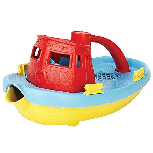 Green Toys- Bote Remolcador (Rojo), Multicolor (TUG01R-R)