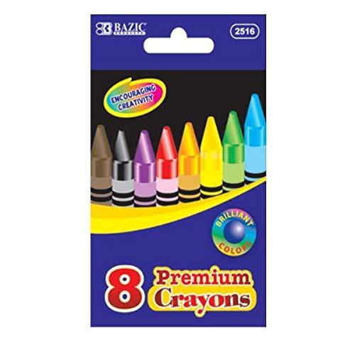 Bazic 8 couleurs crayon de haute qualité, Coque de 144 (2516–144)