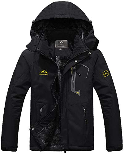 Skijacke Herren Wasserdicht Fleecejacke Outdoor Softshelljacke Warme Outdoorjacke Fleece Wanderjacke Winter Windjacke Winddicht Ski Jacke Warme Winterjacke Parka Softshell Regenjacke Funktionsjacke