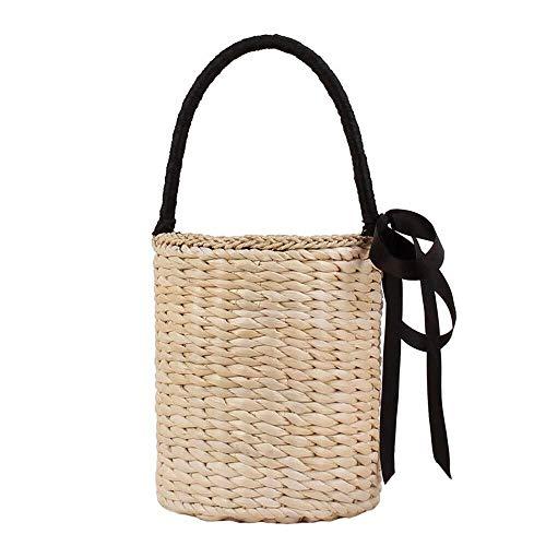 Alvnd tas voor dames, geweven, draagbaar, modieus, voor strand, vrije tijd, vakantie, tas
