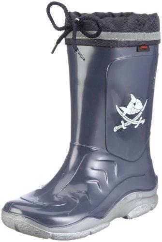 Capt'n Sharky Jungen 130026 Gummistiefel, Blau (see/silber), 35 EU