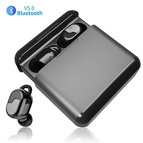 Auriculares Bluetooth Inalambrico 5.0 Auriculares Bluetooth Deportivos con 3200 mAh Caja de Carga Portátil 150H Play Time Estereo Auriculares In-Ear Bluetooh CVC 8.0 para iPhone y Android