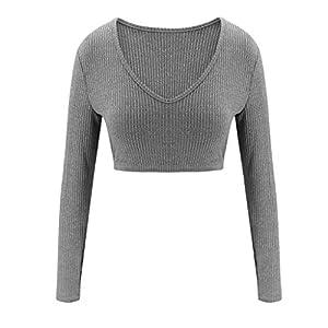 Corlidea Damen Plain Splice Cropped Pullover Sweatshirt und lange Hose Sets