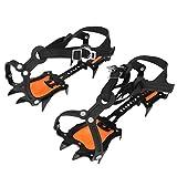 FOLOSAFENAR Crampones de Escalada Negro + Naranja + Amarillo con Bolsa de Almacenamiento, para Senderismo al Aire Libre