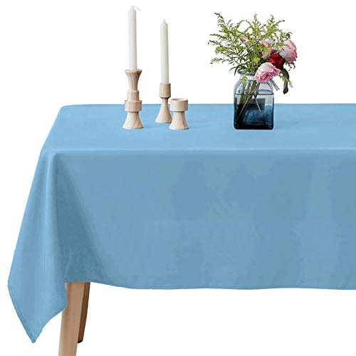 VEEYOO Rectangle Tablecloth - 60 x 102 Inch Polyester Table Cloth for 6 Foot Table - Soft Washable Oblong Lavender Table Cloths for Wedding, Parties, Restaurant, Dinner, Buffet Table and More